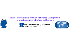 Master International Human Resource Management - a short ove