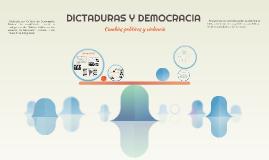 DICTADURAS Y DEMOCRACIA