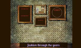 fashion through the years