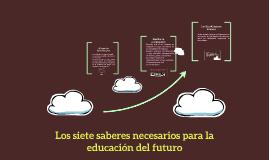 Copy of Los siete saberes necesarios para la educación del futuro
