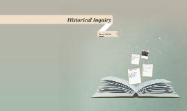 Historical Inquiry