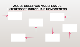 AÇOES COLETIVAS NA DEFESA DE INTERESSSES INDIVIDUAIS HOMOGÊN