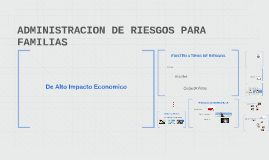 ADMINISTRACION DE RIESGOS PARA FAMILIAS