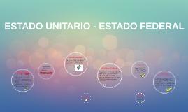 ESTADO UNITARIO - ESTADO FEDERAL