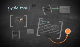 Cyclotrons