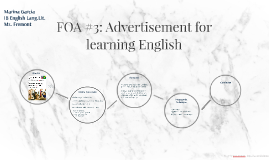 FOA #3: Advertisement for learning english