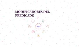 MODIFICADORES DEL PREDICADO