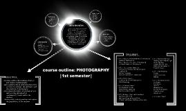 Photography - Semester 1