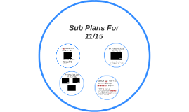 Sub Plans For 11/15