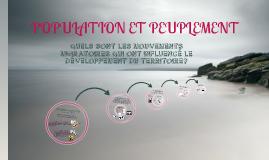Copy of Copy of Population et Peuplement
