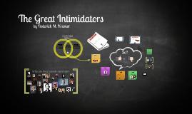 Copy of Hrm great intimidators