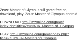 how to play zeus master of olympus on my mac