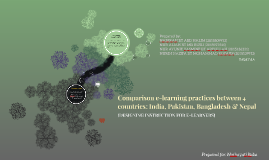 Comparison e-learning practices between 4 countries: India,