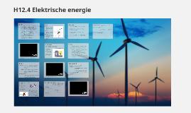 H12.4 Elektrische energie