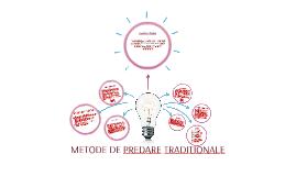METODE DE PREDARE TRADITIONALE