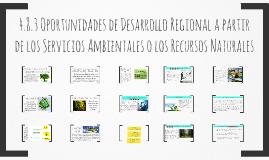 4.8.3 Oportunidades de Desarrollo Regional a partir de los Servicios Ambientales o los Recursos Naturales