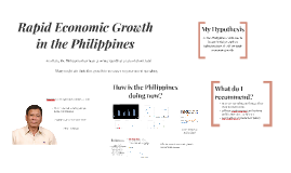 Rapid Economic Growth in the Philippines