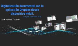 Digitalización documental con la aplicación Dropbox desde di