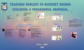 THESIS: Teaching English to Nursery School Children: A pedagogical p