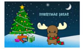 Christmas break