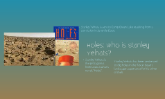 Holes: Who is Stanley Yelnats?