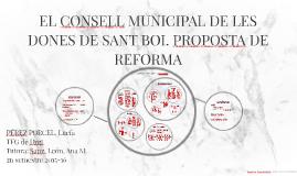EL CONSELL MUNICIPAL DE LES DONES DE SANT BOI. PROPOSTA DE R