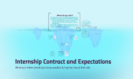 Internship Contract and Expectations