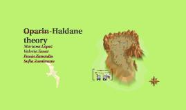 oparin and haldane theory