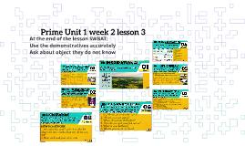 Prime uit 1 week 2 lesson 3