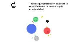 Teorías que pretenden explicar la relación entre la herencia y la criminalidad.