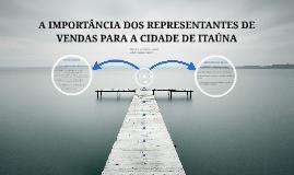 A IMPORTÂNCIA DOS REPRESENTANTES DE VENDAS PARA A CIDADE DE