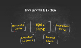 The Great Depression II (From Survival to Election)