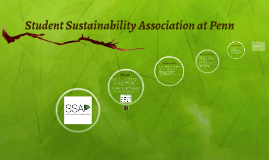 Student Sustainability Association at Penn