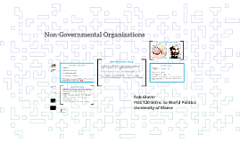 POS 120-Lecture 9: Non-Governmental Organizations