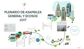 PLENARIO DE ASAMBLEA GENERAL Y ECOSOC