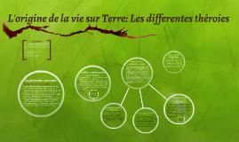 L'origine de la vie sur Terre: Les differentes théroies