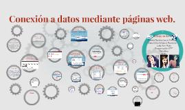 Conexión a datos mediante páginas web