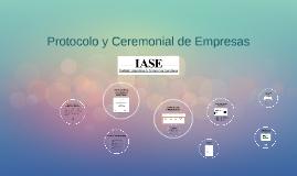 Protocolo y Ceremonial de Empresas