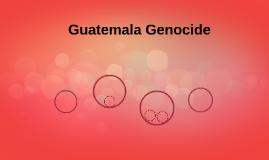 Guatemala Genocide