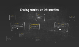 Grading rubrics: an introduction