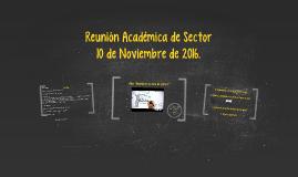 Reunión Académica de Sector