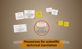 Resources for scientific technical traslation