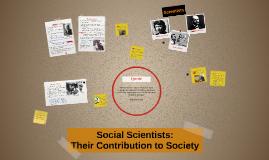 Social Scientists: Their Con