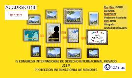 IV CONGRESO INTERNACIONAL DE DERECHO INTERNACIONAL PRIVADO