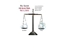6th Math Ratio Tables/Scaling