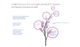 A Harmonious Accounting / Auditing ECO System
