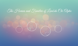 The Houses and Families of Lambda Chi Alpha