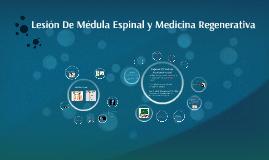 Lesión De Médula Espinal y Medicina Regenerativa