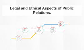 Legal and Ethical Aspects of Public Relations