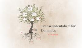 Transcendentalism for Dummies